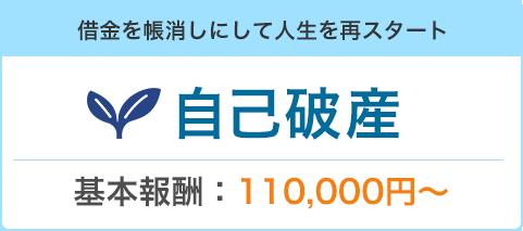 借金を帳消しにして人生を再スタート「自己破産」基本報酬:110,000円〜